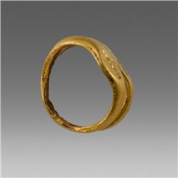 Ancient Roman Gold Hair Ring c.2nd cent AD.
