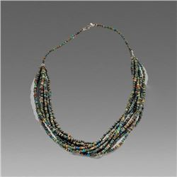 Ancient Egyptian Mummy Bead Necklace c.700-30 BC.