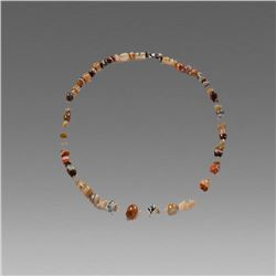 Ancient Near Eastern Banded Agate Bead Necklace c.1st Millenium BC.