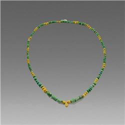 Ancient Islamic Mixed Glass Bead Necklace c.12th-15th cent AD.