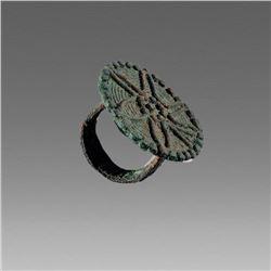 Ancient Near East Amlash Bronze Ring c.1200 BC.