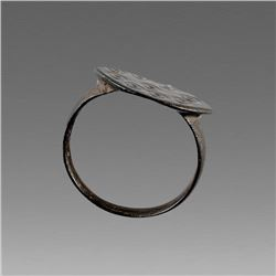 Ancient Byzantine Bronze Ring c.10th cent AD.