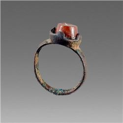 Ancient Roman Bronze Ring with intaglio c.2nd-4th cent AD.
