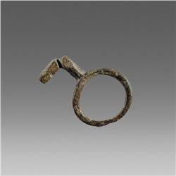 Ancient Roman Bronze Key Ring c.2nd-4th cent AD.