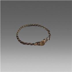 Ancient Roman Silver Bracelet c.3rd cent AD.