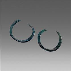 Pair of Ancient Celtic Bronze Age Arm Bracelets c.1200 BC.