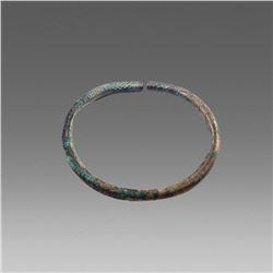 Ancient Roman Silver Bracelet c.2nd cent AD.