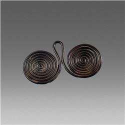 Ancient Celtic Bronze Spetacles Pendant c.900 BC.