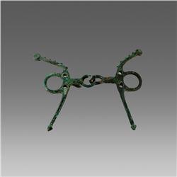 Ancient Celtic Bronze Horse Bit c.8th century BC.
