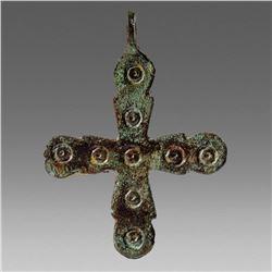 Ancient Byzantine Bronze Cross c.8th-10th cent AD.