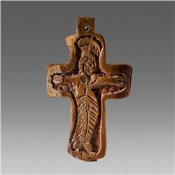 Antique Coptic Ethiopian Bone Cross c.19th cent AD.