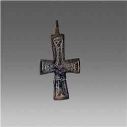 Ancient Byzantine Bronze Cross c.9th-10th cent AD.