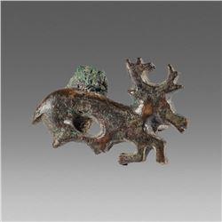 Ancient Greek Bronze Brooch Fibula c.2nd cent BC.