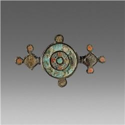 Ancient Roman Enameled Bronze Brooch Fibula c.2nd cent AD.