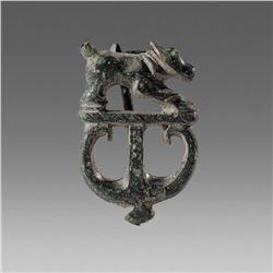 Ancient Roman Britain Bronze Brooch Fibula c.2nd cent AD.