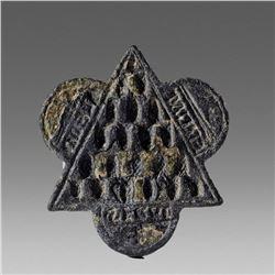 Antique Bronze Seal Matrix Spain c.14th cent AD.