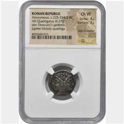 ROMAN REPUBLIC. Anonymous. Silver Quadrigatus or Didrachm