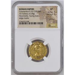 Ancient Constantius II, as Augustus (AD 337-361).Gold solidus