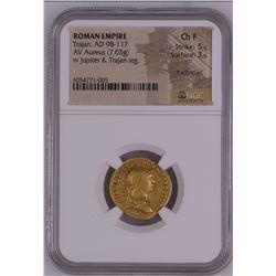 Ancient Trajan. Gold Aureus, AD 98-117. Rome, AD 113/4.