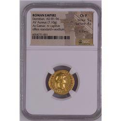 Ancient Roman Domitian. Gold Aureus, as Caesar, AD 69-81.