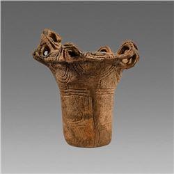 Ancient neolithic Japanese Jomon Vessel ca. 3000-1000 BC.
