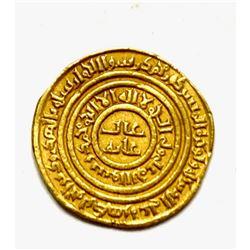 Fatimid Gold Dinar al-Amir Yusuf Murabitun (Almoravid). Yusuf b. Tashufin, AH 480-500