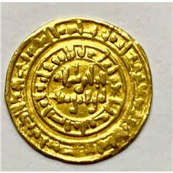 Fatimid Gold DInar Crusader period c.10th century AD.