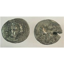 Lot of 2 Cilicia Staters test cut