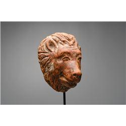 Ancient Hellenistic Lion Head Protome Ca. 350 B.C.