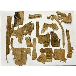 Lot of Ancient Egyptian Papyrus Fragments.