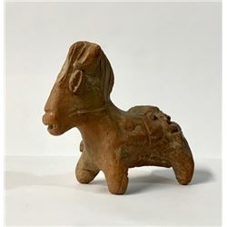 Ancient Roman North African Terracotta Horse c.2nd-3rd century AD. Size 3 1/4 inches length. Provena