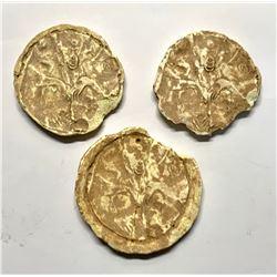 Lot of 3 Ancient Mesopotamian Clay Applique c.6th century BC.