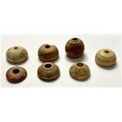 Lot of 6 Ancient Roman Bone Spindle Whorls c.1st-4th century AD.