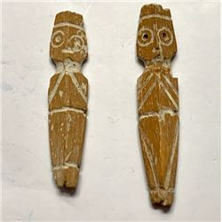 Lot of 2 Coptic Idols c.5th century AD. Size 2 - 2 1/4 inches high. Ex NYC Collection