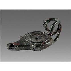 Ancient Roman Bronze Oil Lamp c.1st-4th century AD.