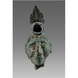 Rare Ancient Roman Bronze Figural Oil Lamp c.1st-4th century AD.