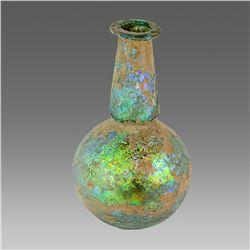 Large Ancient Roman Glass Bottle c.1st-2nd century AD.