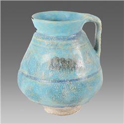 Ancient Islamic Persian Kashan Ceramic Jug c.13th century AD.