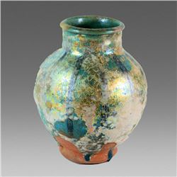 Ancient Islamic Persian Kashan Ceramic Jar c.13th century AD.