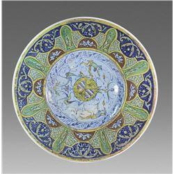 19th century Spanish Ceramic Plate.