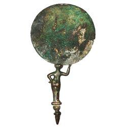 Ancient Roman Bronze Mirror with Aphrodite handle c.1st century AD.