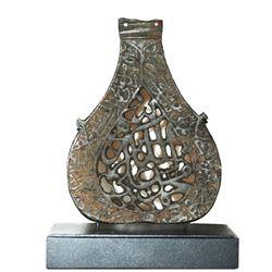 Medieval Islamic Bronze Alam with Arabic c.14th/15th century AD.