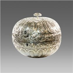 Turkish Silver Covered Bowl.
