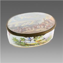 19th century French Severs Marked Porcelain Box.