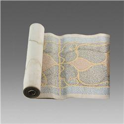 Highly Illuminated Arabic Manuscript.Complete Koranic Scroll on Vellum