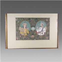 Indian Miniature Painting of Royal Couples.