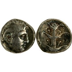 Ancient Greek KYRENAICA, Kyrene. temp. Ptolemy I. Circa 308-305 BC.