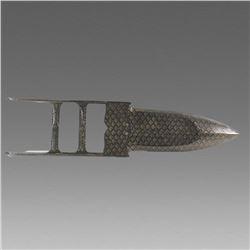 Indian Silver Inlay Steel Katar.