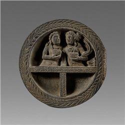 Gandhara Style Schist Stone cosmetic bowl.