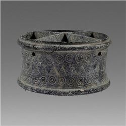 Bactrian Schist Stone cosmetic bowl.